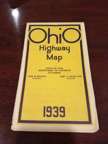 1939 Ohio Road Map