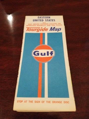 1973 Gulf Oil Eastern United States Tourguide Map