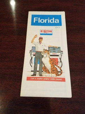 1978 Exxon Florida Road Map