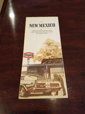 1972 Texaco New Mexico Road Map