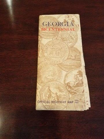 1976-1977 Georgia Bicentennial Road Map