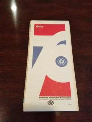 1976 Ohio AAA Road Map