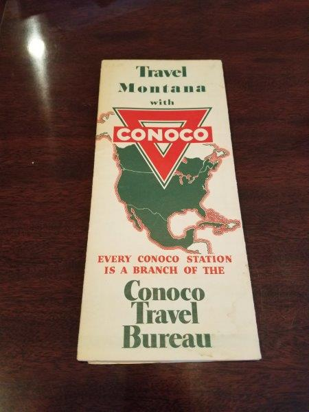1930s Conoco Montana Road Map