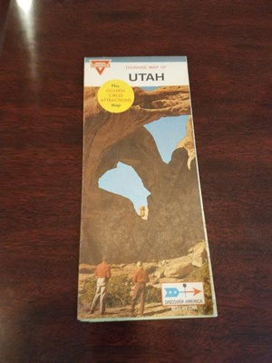 1968 Conoco Utah Road Map