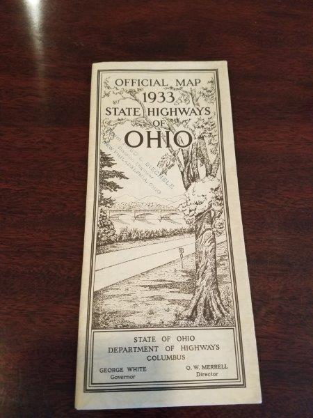 1933 Ohio Road Map