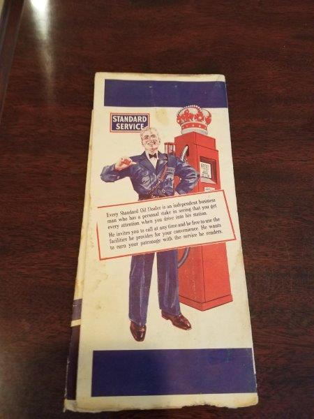 1940s Standard Oil Missouri Road Map