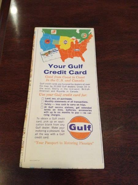 1964 Gulf Oil Alabama Kentucky Tennessee Tourguide Map