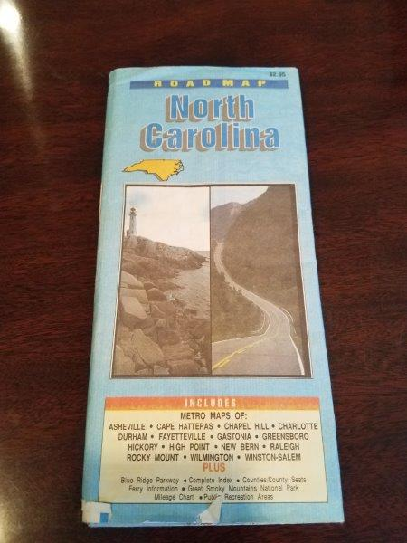 1996 North Carolina Road Map