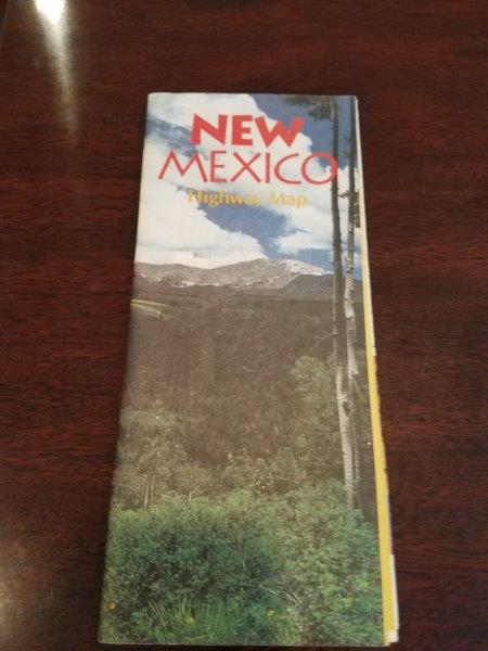 1992 New Mexico Road Map