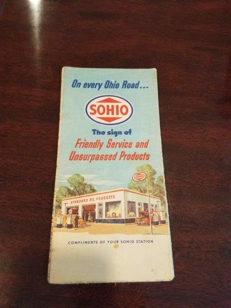 1940s Standard Oil Ohio Road Map