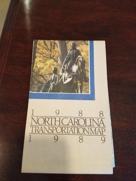 1988-1989 North Carolina Road Map