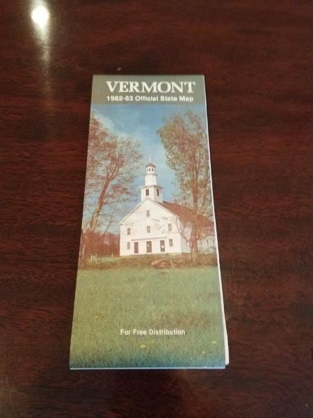 1982-1983 Vermont Road Map