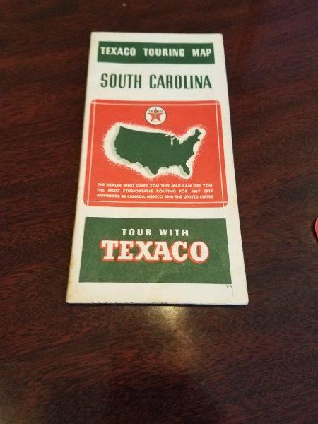 1939 Texaco South Carolina Road Map