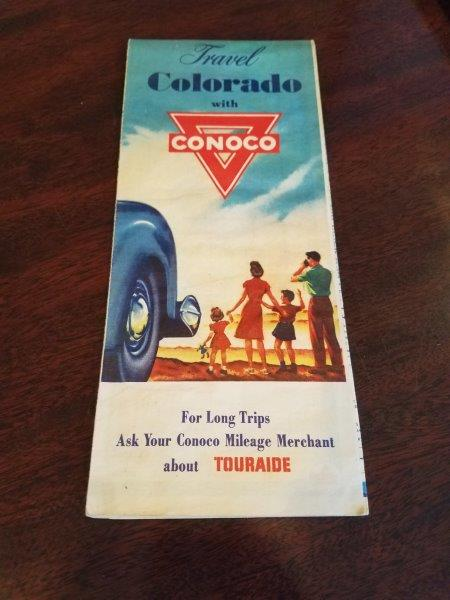 1940s Conoco Colorado Road Map