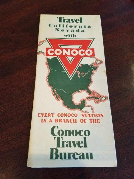 1936 Conoco California Nevada Road Map