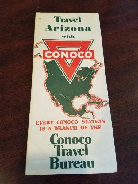 1936 Conoco Arizona Road Map