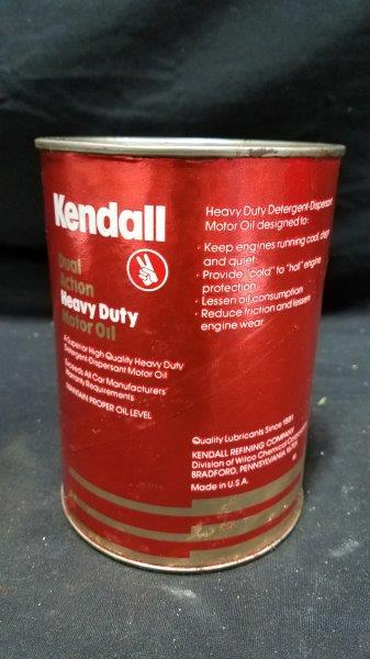 Kendall Dual Action Heavy Duty Full Quart Cardboard Oil Can