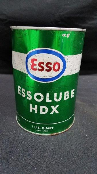 Esso Essolube HDX Full Quart Metal Oil Can