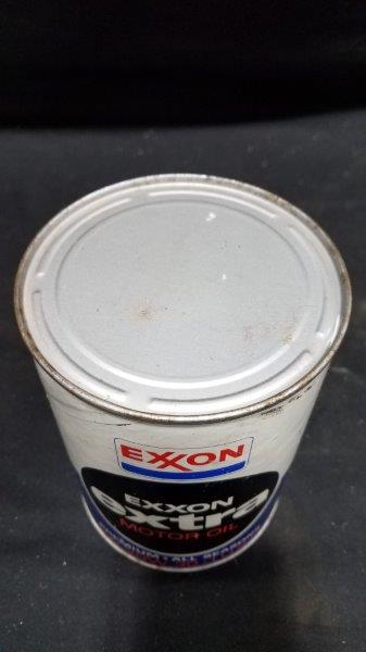 Exxon Extra Full Quart Cardboard Oil Can
