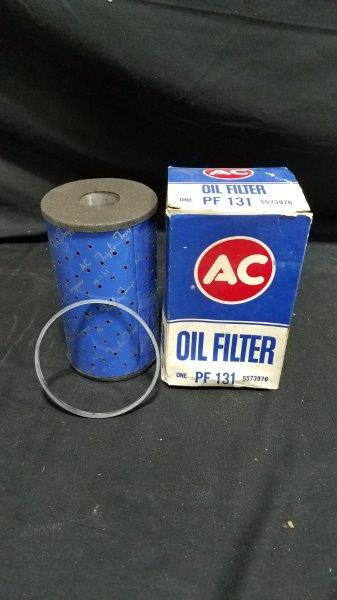 Vintage AC Oil Filter NOS For 56-67 Chevy/Corvette PF131 Triple Trapper