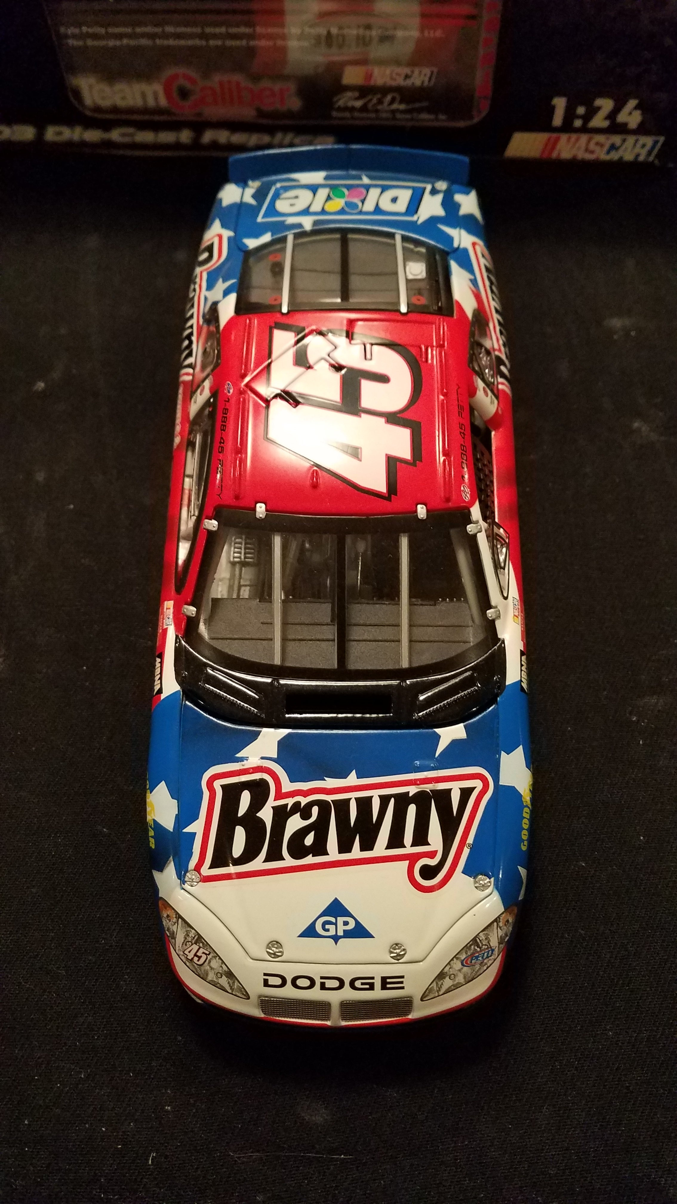 Autographed Kyle Petty Brawny 2003 Diecast in Orginal Box