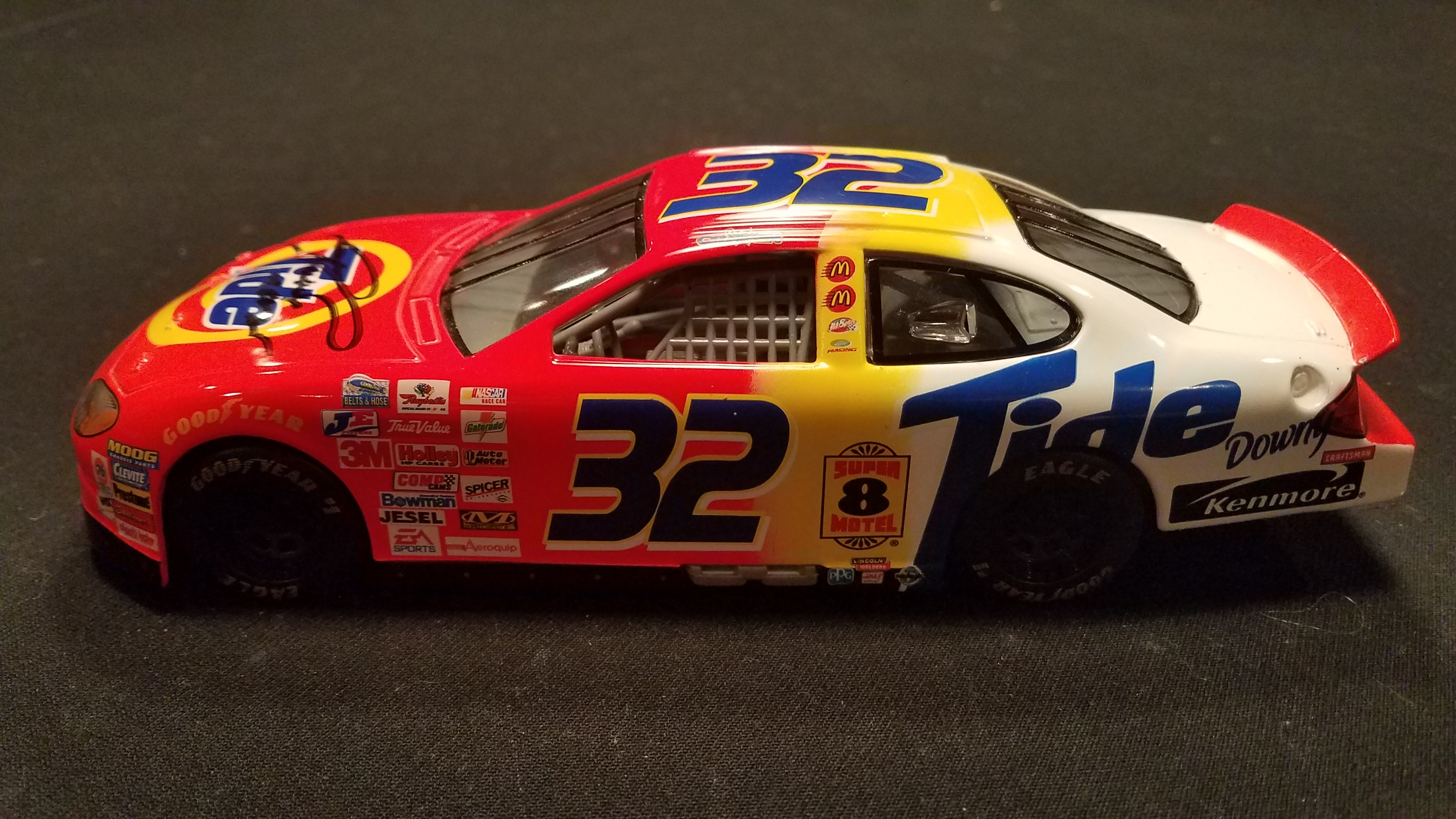 Autographed Ricky Craven Tide Taurus 1:24 Diecast