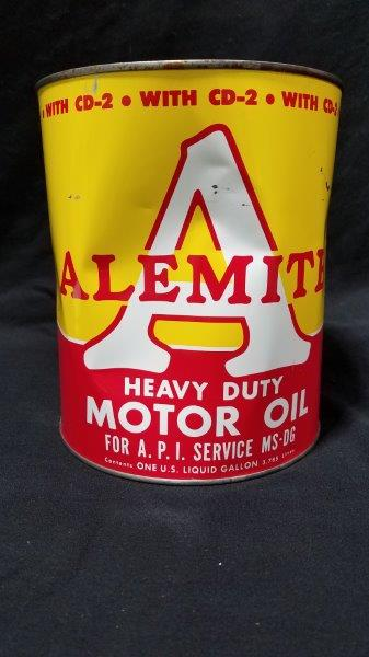 Alemite Motor Oil Full 1 Gallon Metal Can
