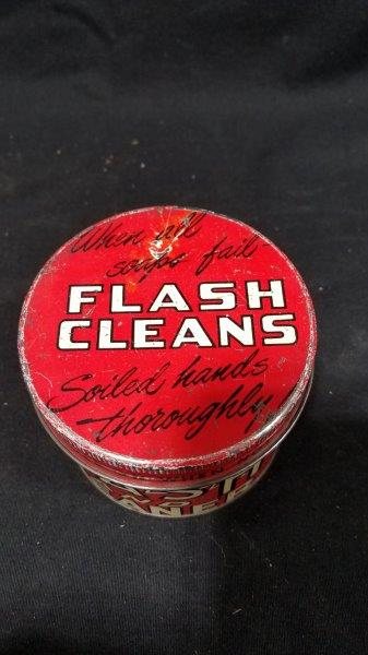 Flash Hand Cleaner Empty Metal Can