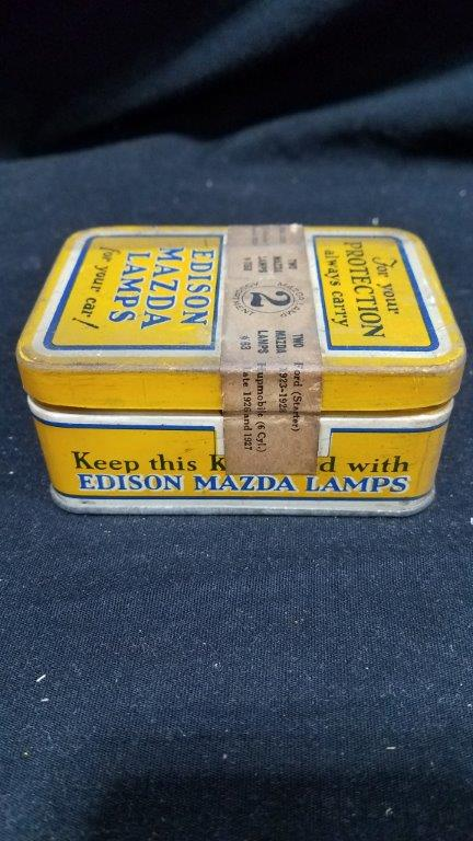 Edison Mazda Lamps 2 Lamp Assortment Can Never Opened with Band