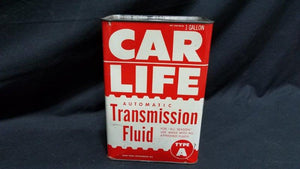 Car Life 1 Gallon Full Metal Transmission Fluid Oil Can