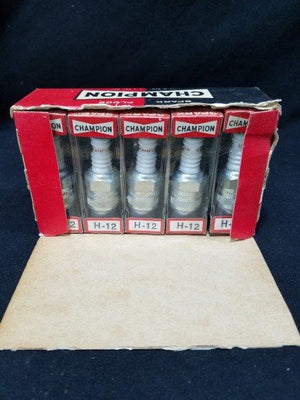 Champion H-12 Spark Plugs NOS in Original Box (Lot of 10)