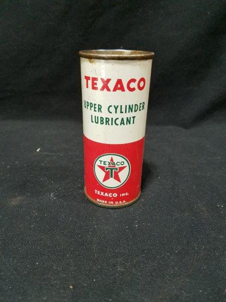 Texaco Upper Cylinder Lubricant 4oz Full Metal Oil Can