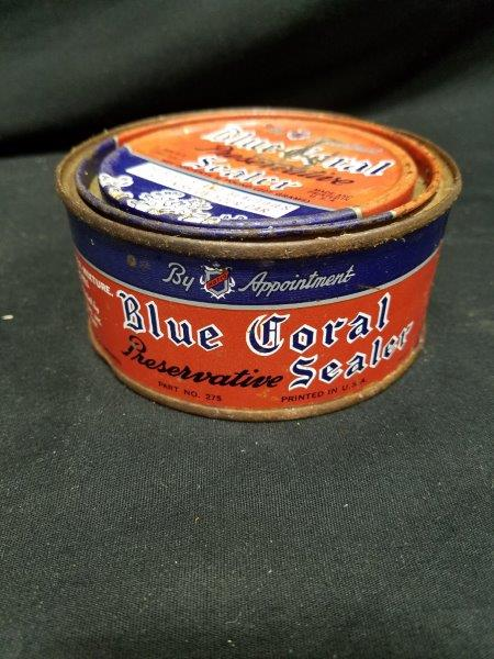 Blue Coral Sealer Wax 1/2 lb Metal Can