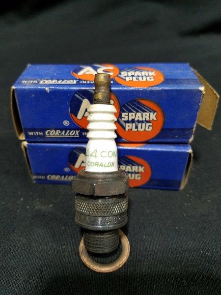 AC Coralox 44 COM Spark Plugs in Original Boxes (Lot of 2)