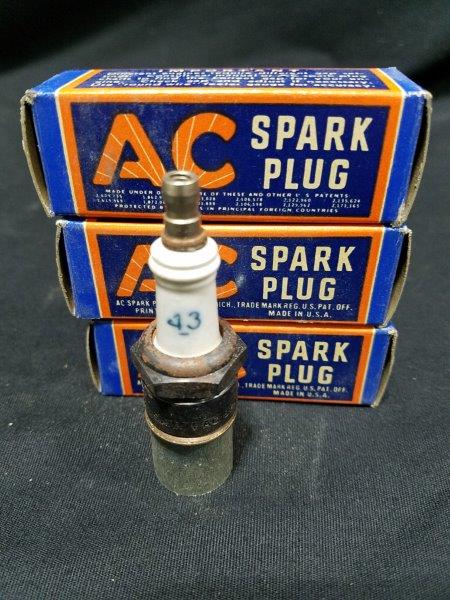 AC 43 Spark Plugs in Original Boxes (Lot of 3)