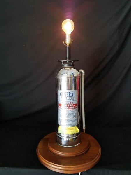 Vintage General Soda-Acid Model SS-15 Fire Extinguisher Lamp