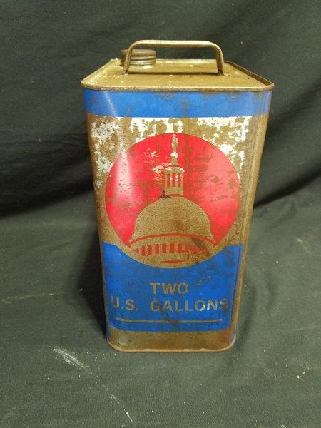 Capitol 2 Gallon Motor Oil Can