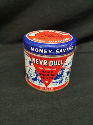Nevr-Dull Vintage 5 oz Metal Wadding Polish Can