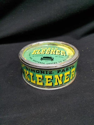 Simoniz Kleener Green Metal Wax Can