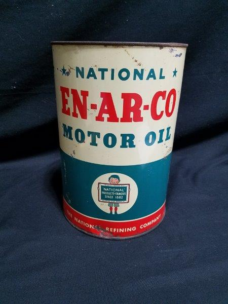 Enarco 5 Quart Metal Motor Oil Can