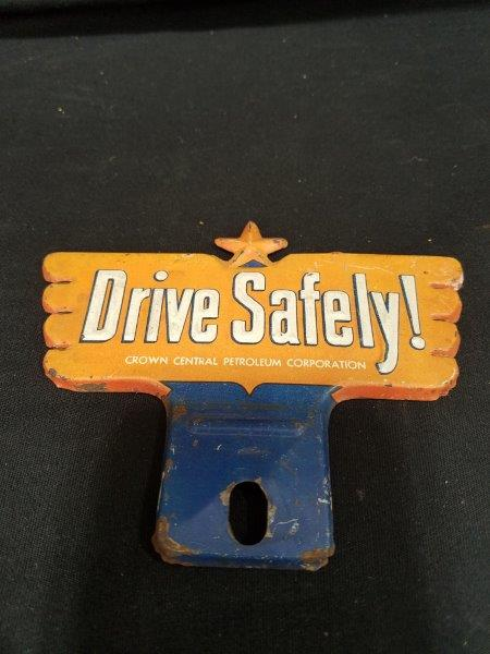 "Crown Petroleum ""Drive Safely"" Plate Topper"