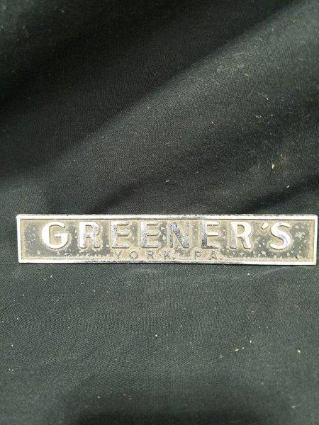 Greener's York, PA Auto Dealership Badge Car Emblem