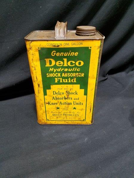 Delco Hydraulic Shock Absorber Fluid 1 Gallon Metal Oil Can