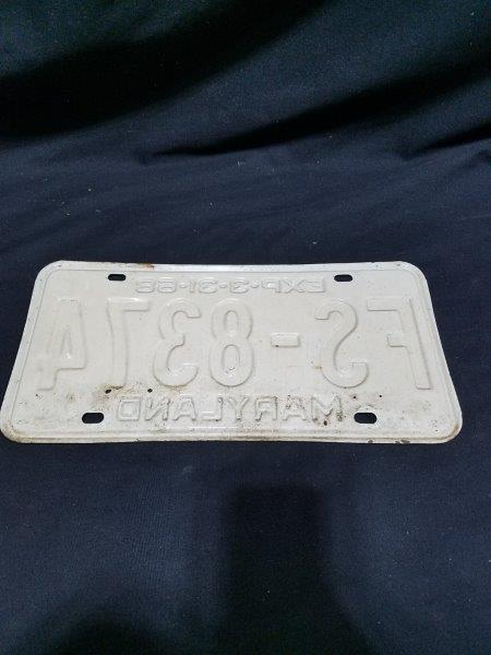 Maryland 1968 Metal License Plate