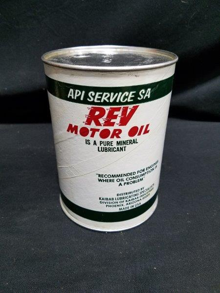 Rev Motor Oil Quart Composite Oil Can with Graphics