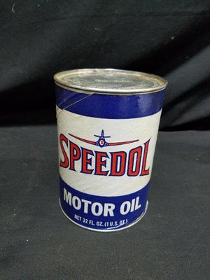 Speedol Motor Oil Full Composite Quart Oil Can with Graphics