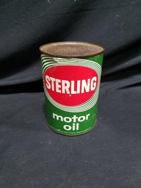 Sterling Quart Metal Motor Oil Can