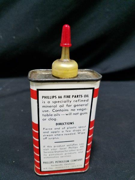 Phillips 66 Fine Parts Oil 4 oz Metal oiler Can