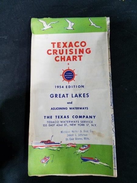Texaco 1954 Edition Great Lakes Cruising Chart Map