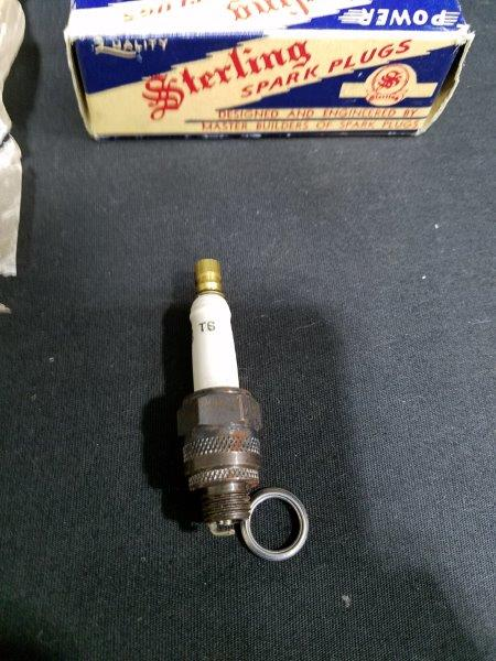 Sterling T-6 Vintage Spark Plug in Original Box